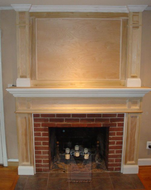 Mantel  with Overmantel