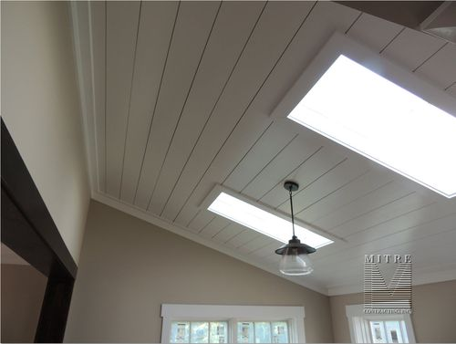 Master Bedroom Ceiling Treatment Of 1x8 Boards