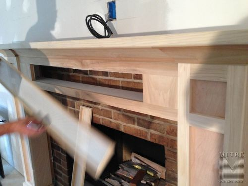 Craftsman Style Mantel with storage - removable panels