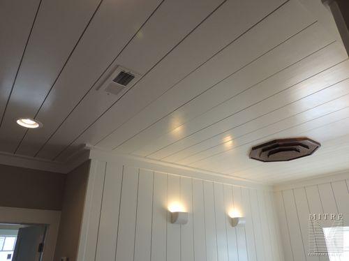 Upper Hallway 1x8 wall & ceiling treatments