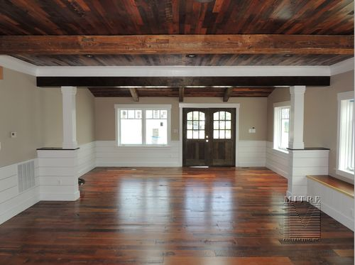 Great Room Wainscoting, Half Walls, Columns