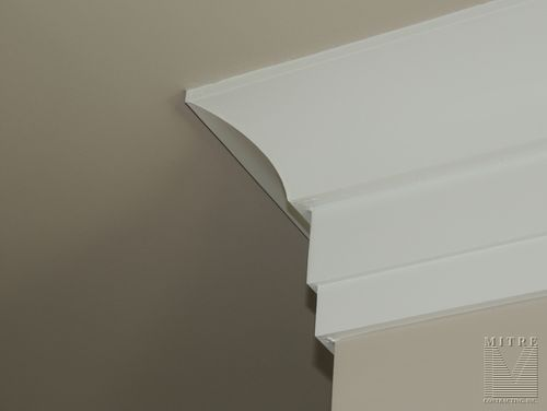 Cove crown moulding with backer