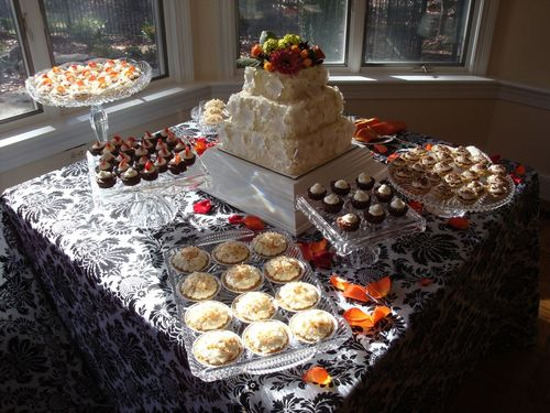 Wedding Cake and Miniature Desserts