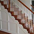 Foyer Stairs Wainscoting Treatment