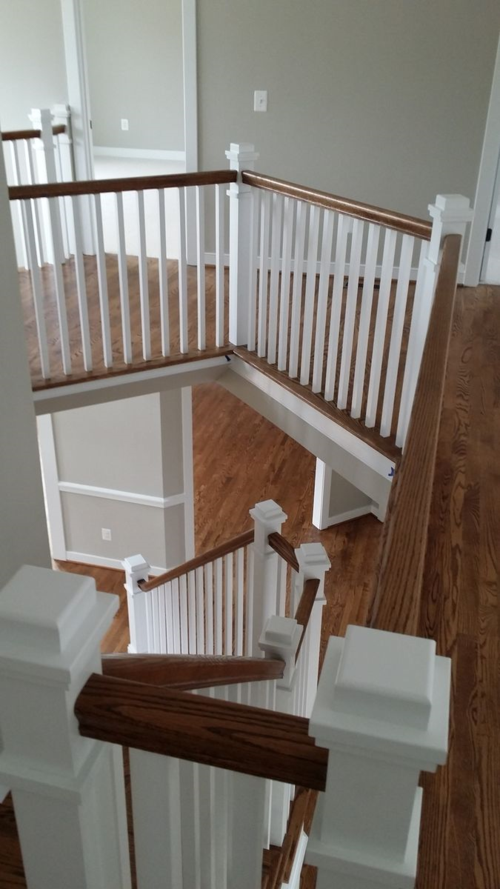 Craftsman style stair railing