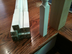 Baluster installation using bolts