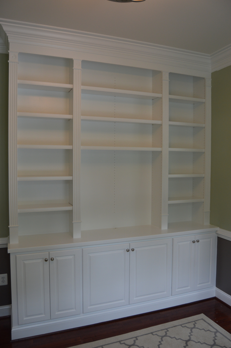Office Built-In Cabinetry in a painted finish