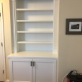 Built-In bookcase with storage
