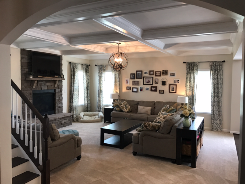 Coffered Beamed Ceiling
