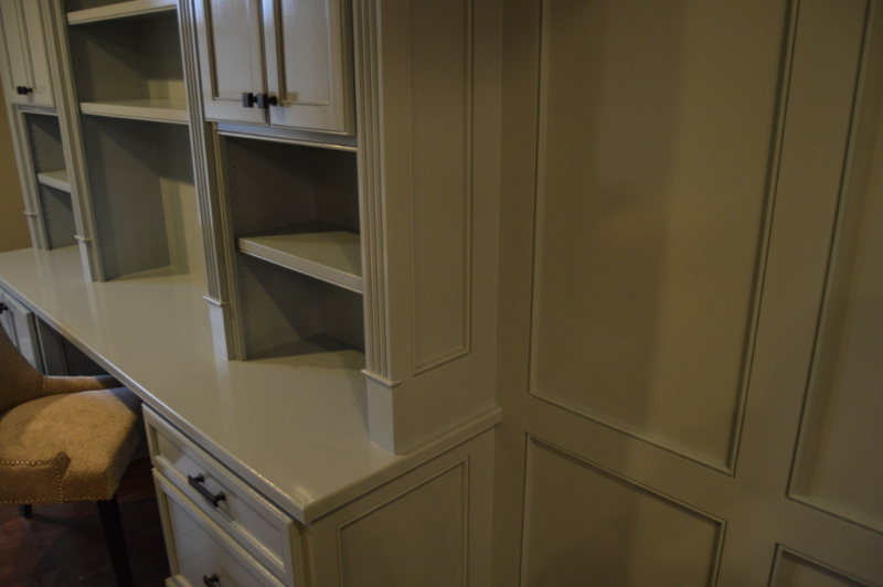 Built-In Cabinetry- paneled sides, stiles, wainscoting