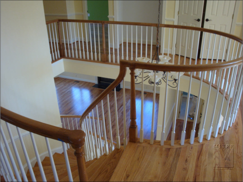 Curved Stairs - Upper hallway