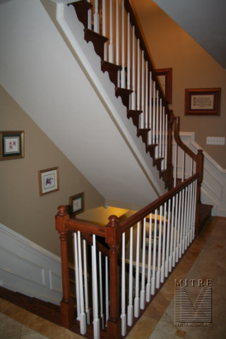 6010 style railings, 4040 newels, 5015 balusters