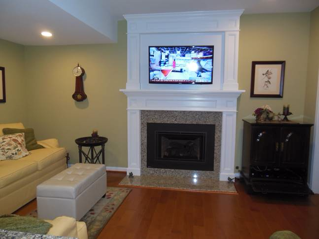 Mantel & Overmantel with cabling access
