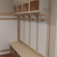 Built-in Cubbies in a mudroom