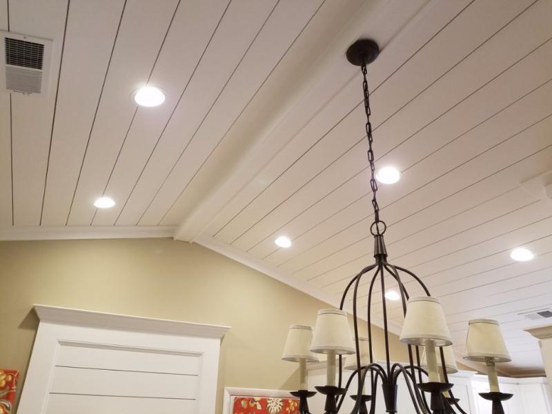 Ship Lap ceiling treatment
