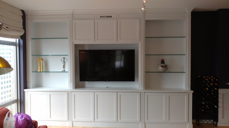 Entertainment  Center Built-In Cabinetry
