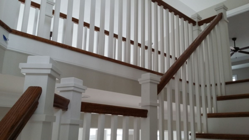 Stair Railing with boxed newels and square balusters