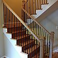 Stair Railings with Wrought Iron Balusters
