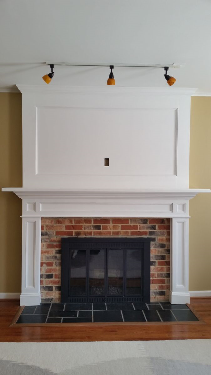 Fireplace Mantel with Over mantel