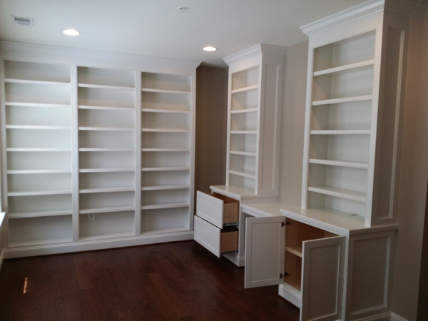 Painted Built In Cabinetry And Bookcases Mitre Contracting Inc