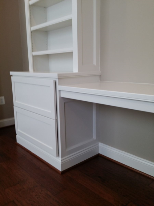 File drawer built-in cabinetry base unit with recessed paneled sides