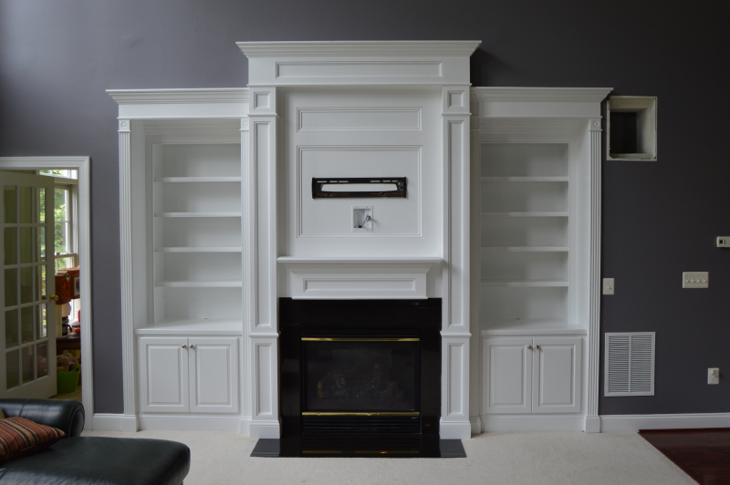 Fireplace Manel Surround and Built-in Cabinetry