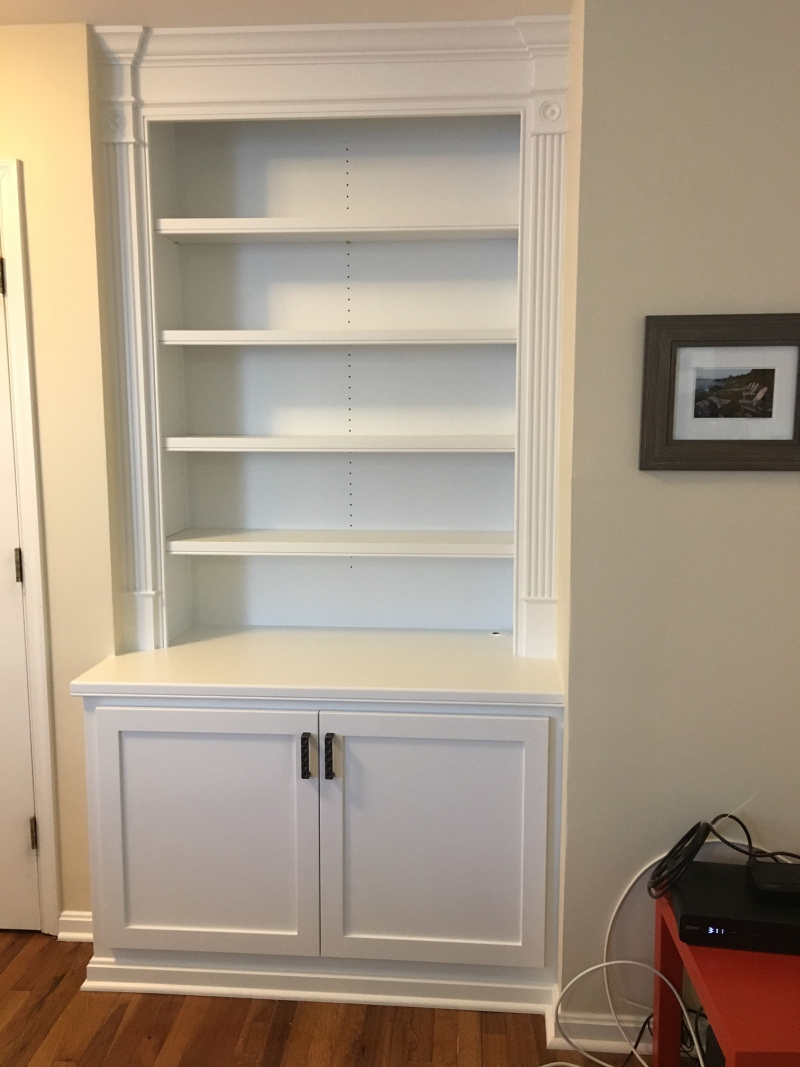 BuiltIn bookcase with storage