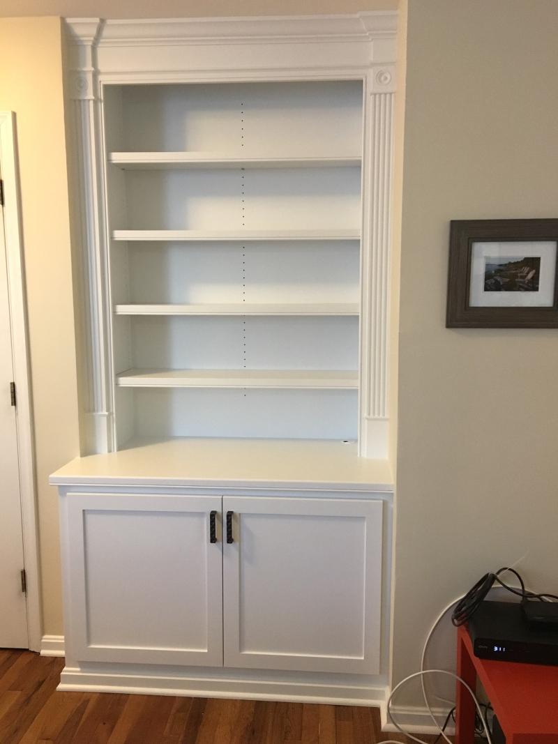 BuiltIn bookcase with storage
