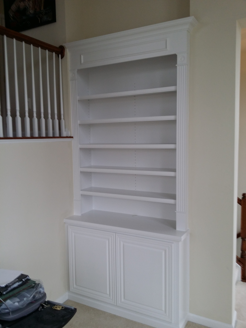 Built-in cabinet bookcases with storage