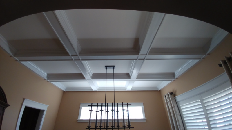 Beamed Coffered Ceiling Craftsman Style