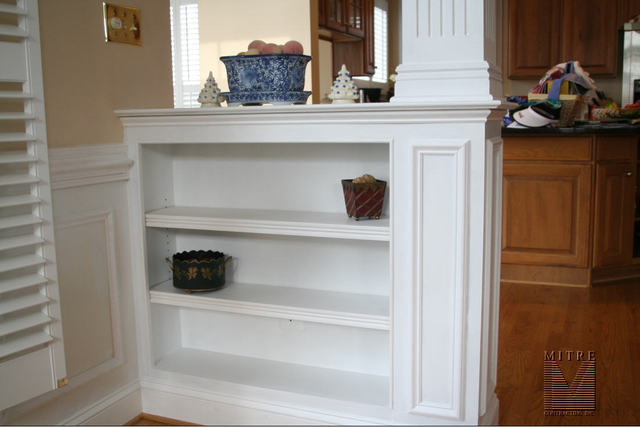 Built Ins Half Wall Bookcase Unit Left Side View