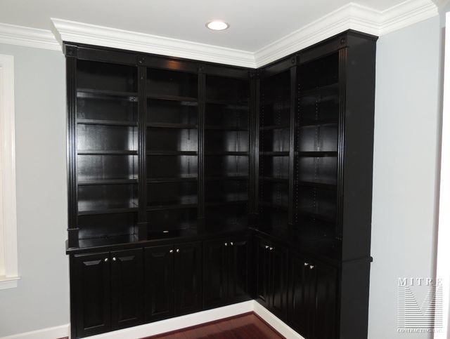 Built-In cabinetry in black