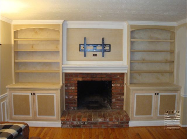 Built-In Cabinets just after installation