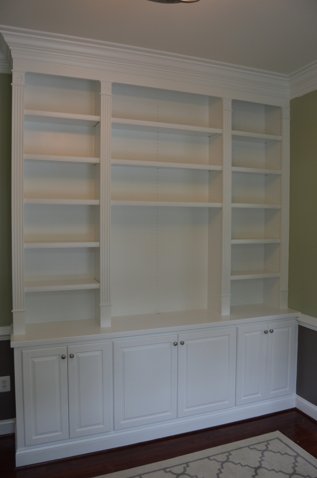 Built-in cabinetry for a home office