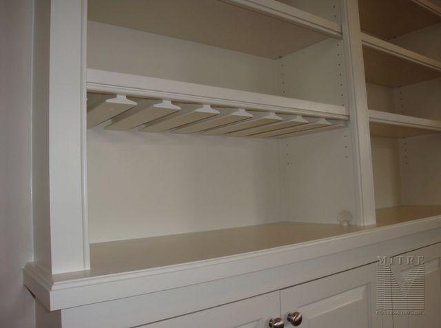 Built-In Cabinetry Stem Glass Holder