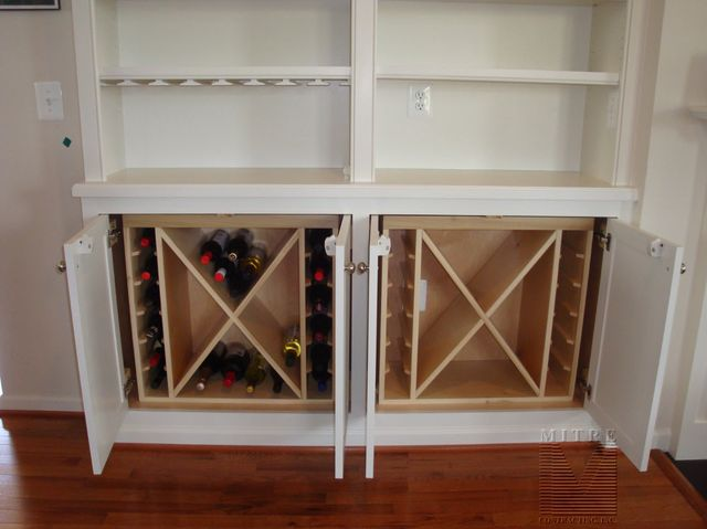 Built Ins Built In Cabinet Wine Rack Inserts