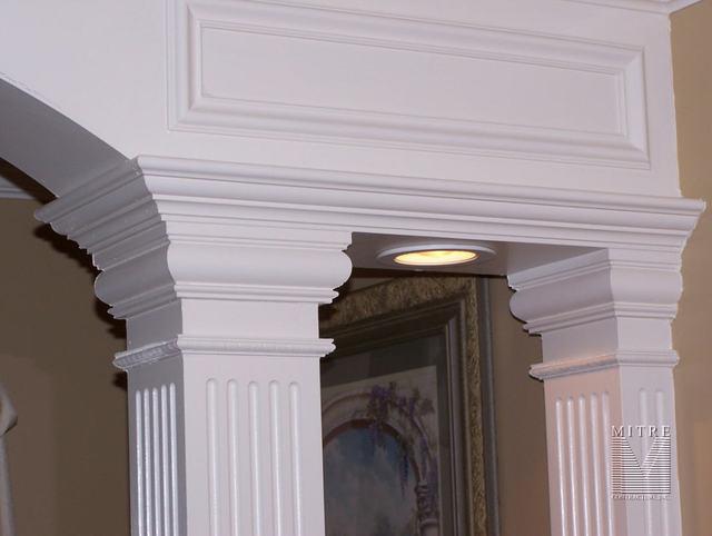 Bath 1/2 wall with Arch & Columns