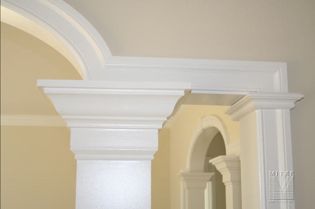 Custom Elliptical Cased Opening with Columns