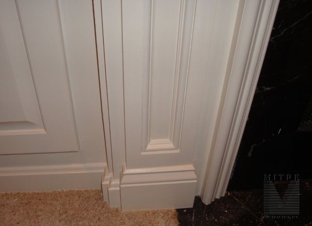 Base of pilaster... part of mantel surround & built-ins