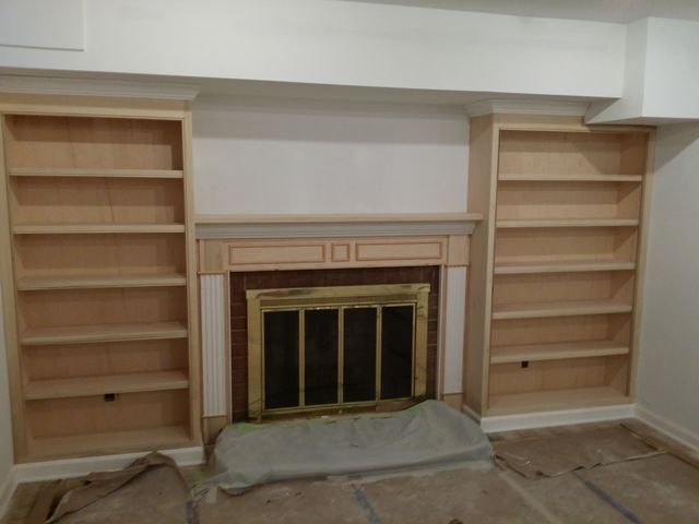 Mantel & Bookcases