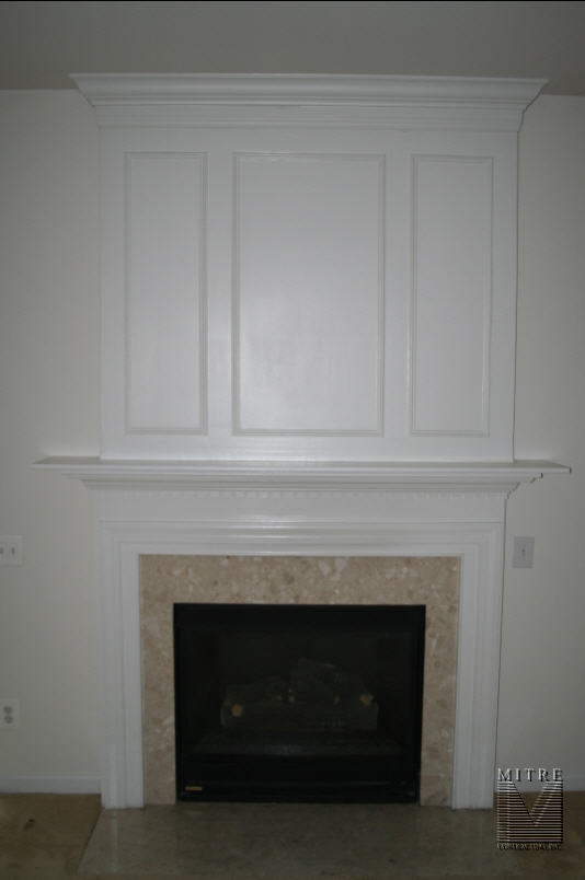 Mantel with panel moulding & crown
