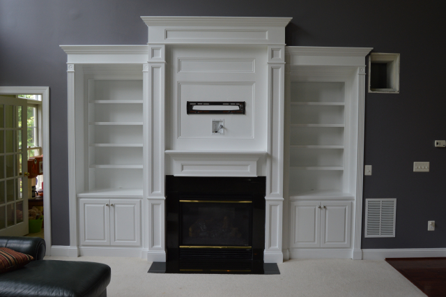Fireplace Surround with Built-Ins