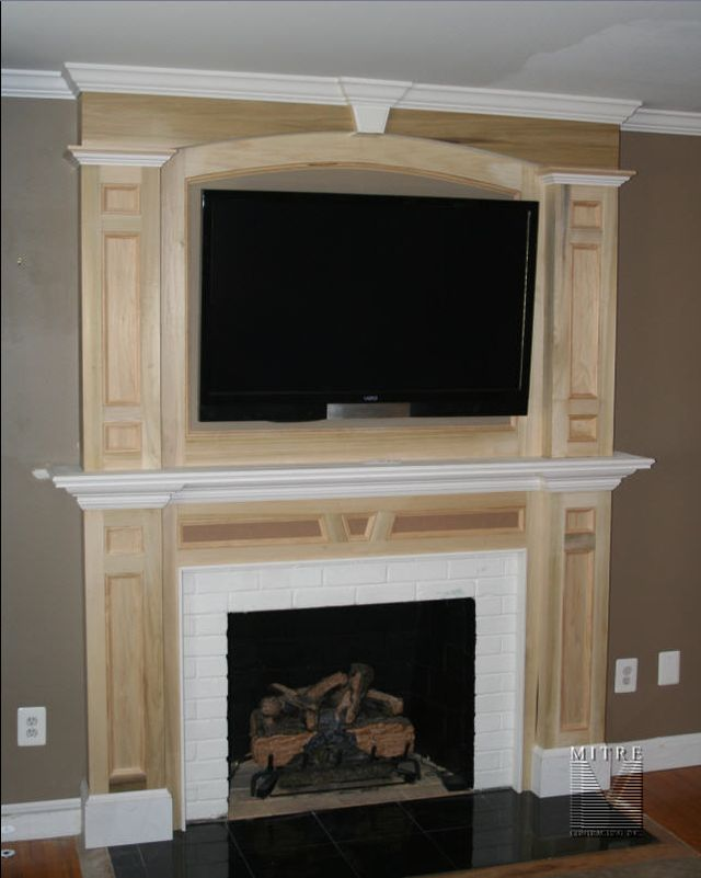 Fireplace Mantel & Over Mantel