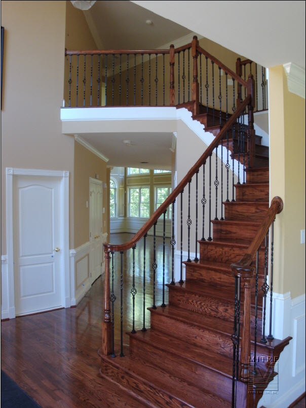 Stair balusters iron joy studio design gallery best design for Stair remodel houston