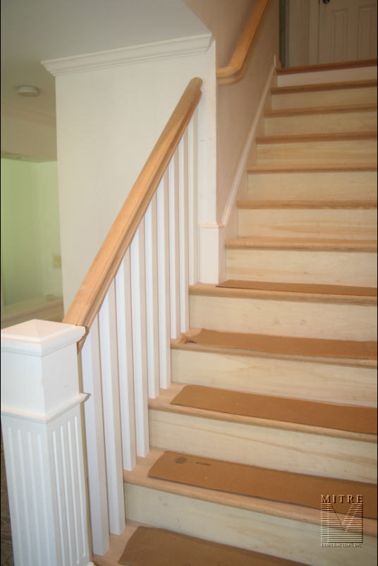 Oak Rail Replacement with Boxed Newel (1 of 2)