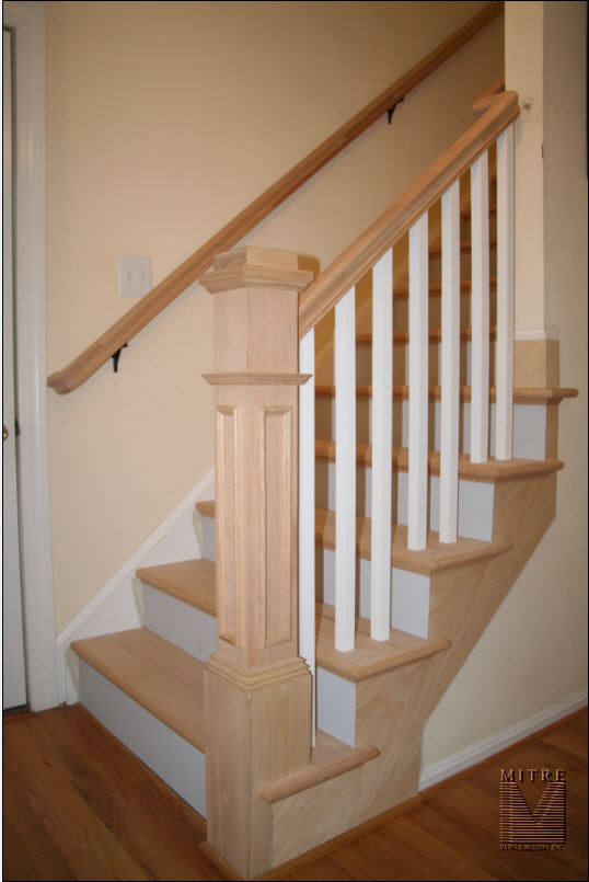 Oak Rail & Stair Tread Replacement