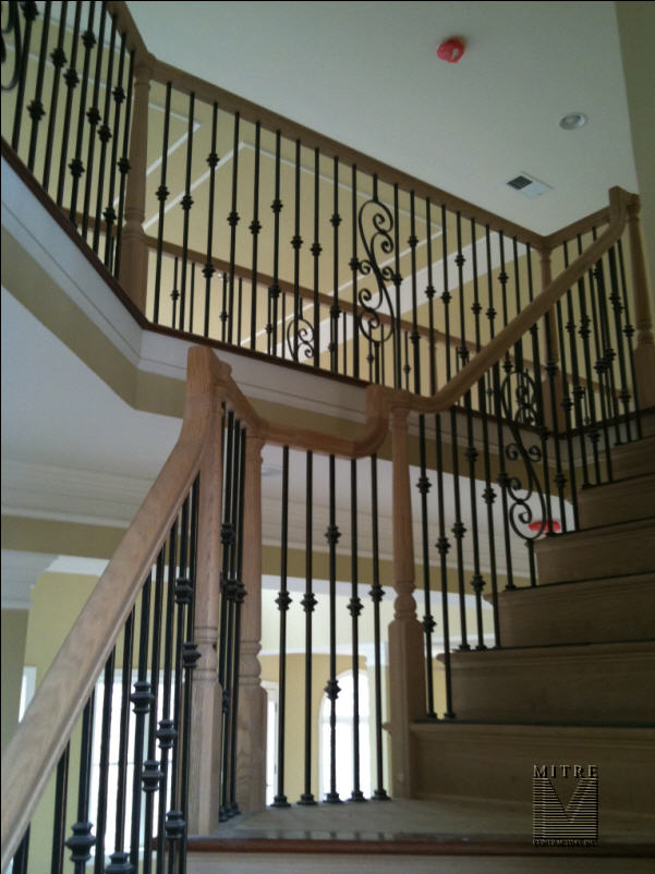 wrought iron banister spindles