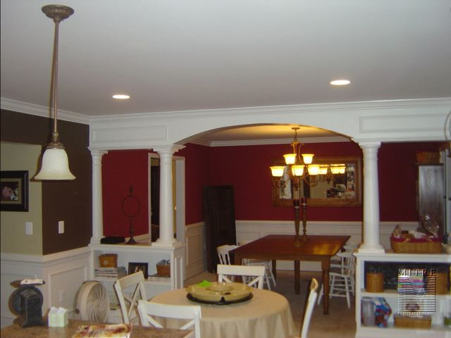 Half Wall Bookcases Arch Columns