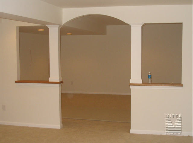 Arched Opening in Finished Basement Project