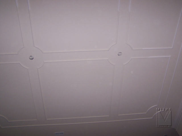 Ceiling Trim with multiple sections
